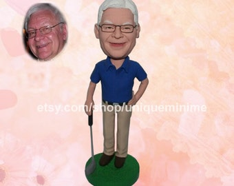 Personalized Grandfather Gift Christmas Gift Bobblehead dolls,Grandfathers Grandad Bobblehead dolls, Bobblehead dolls, Fathers Day