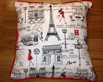 Large Paris cushion cover