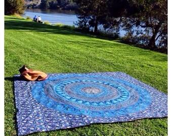 LARGE, Handmade, Authentic, Indian Mandala  Tapestry