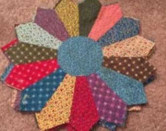 Set of 4 Quilted Multicolored Placemats