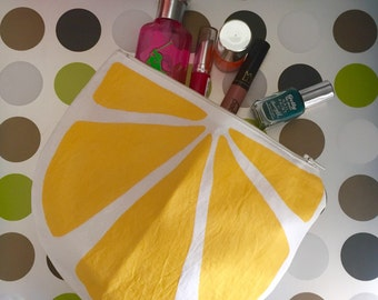 Lemon Slice Make up Zipper Pouch