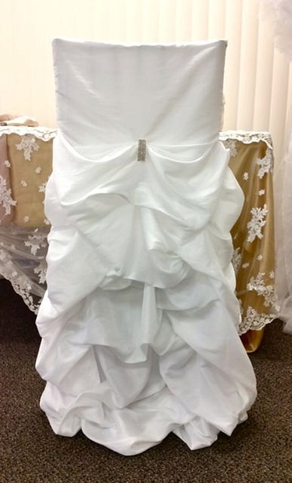Wedding Chair Covers Ruffled Wedding Chair By SanDiegoPinkWedding
