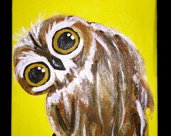 Owl Print on Canvas
