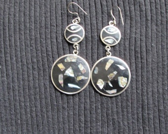 Onyx and Mother of Pearl Earrings