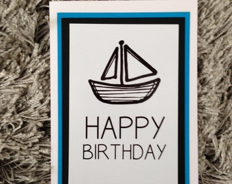 Boys Happy Birthday card