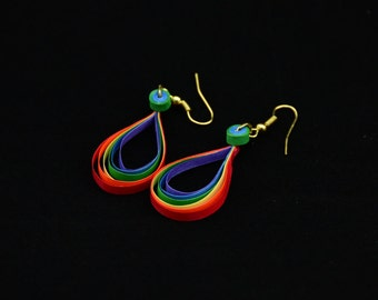 Rainbow earring-multicolored stylish trendy rainbow