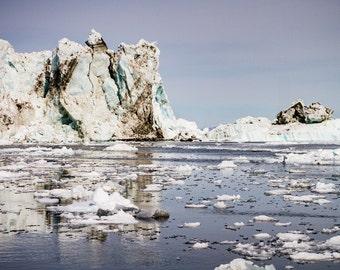 Dirty Ice - Iceberg, Ilulissat, Greenland, Ice Fjord, Landscape, Photo, Print, Travel, Tourism, Arctic, Circle, Nature,