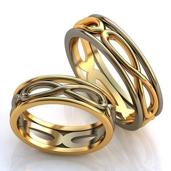 infinity wedding rings eternity promise rings by worldofgold