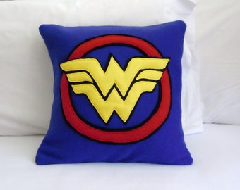 Wonder Woman Fleece Throw Pillow, DC Comics