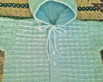 Baby Blue Hooded Sweater