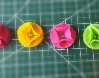 Handmade Flower Lapel Pin/Boutonniere (4 Colors)