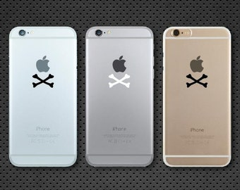 Apple Crossbones iPhone decal - iPhone sticker