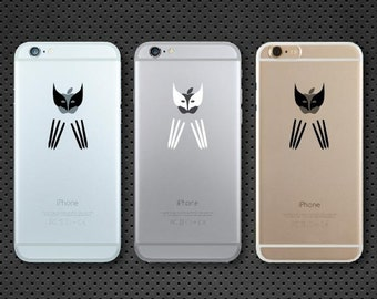Wolverine inspired iPhone decal - iPhone sticker