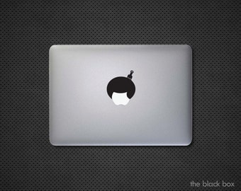 Apple Afro Hair Macbook decal - Macbook sticker