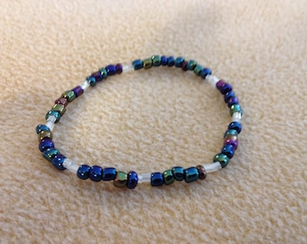 Beaded Bracelet. Multi Colored With White Accent Beads