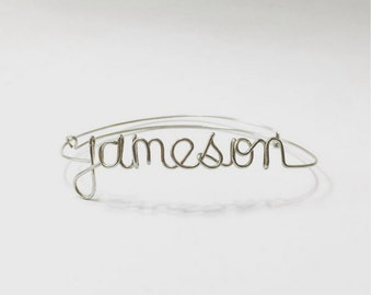Customized / Personalized Wire Name Bracelet