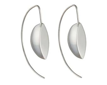 Silver Earrings - 3D Marquis