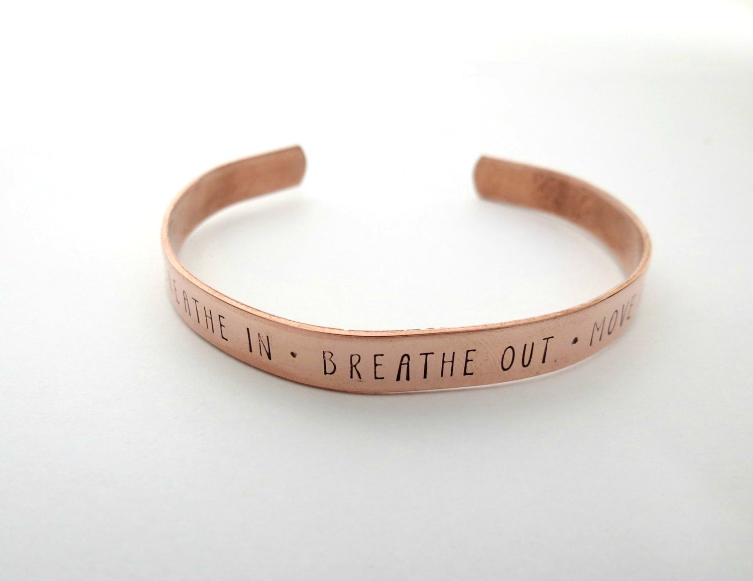 Breathe In Breathe Out Move On Bracelet by accessoriesbyregina