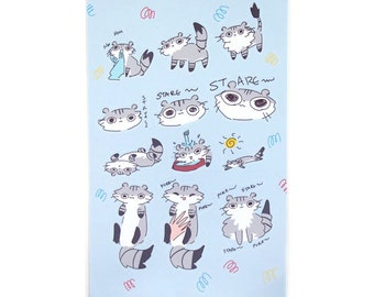 Trusty the Cat Set 1 Stickers