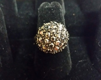 Marcasite style ring