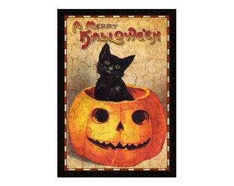 Cat Sign-Halloween plaque