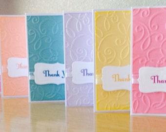 Thank You Cards - Greeting Card Set - Handmade Cards - 8pk