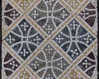 Exquisite Handmade Geometrical Shapes Mural Art Design Marble Mosaic GEO273