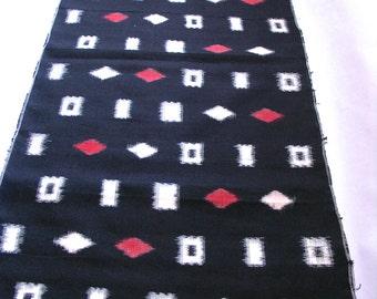 Vintage Japanese Kimono Fabric, Meisen, Japanese Kasuri