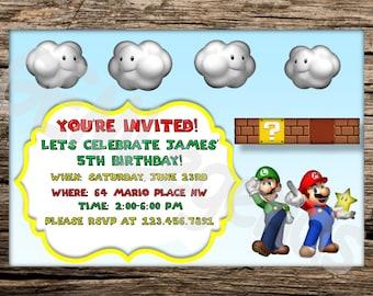 Mario Birthday Party Invitation, Mario Birthday, Mario Party, Mario Invitation, Mario Birthday Party, Super Mario Party, DIGITAL DOWNLOAD