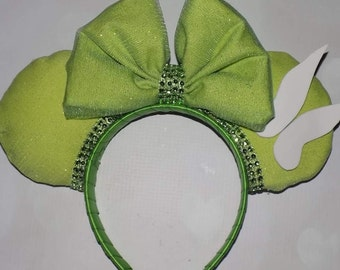 Tinkerbell inspired Mickey ears
