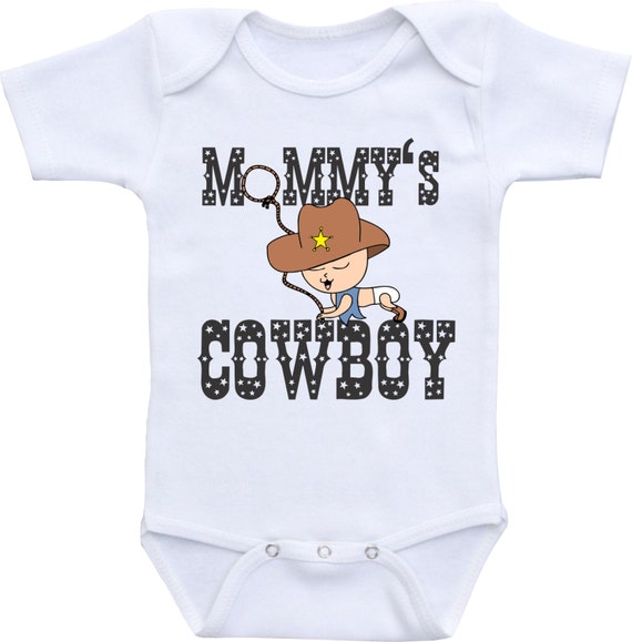baby shower gift mommy 39 s cowboy baby shirt western onesie rodeo baby