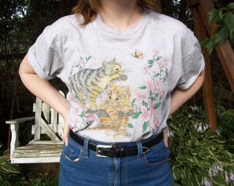 Floral Kittens Shirt