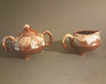 Vintage Japanese Sugar and Creamer Set