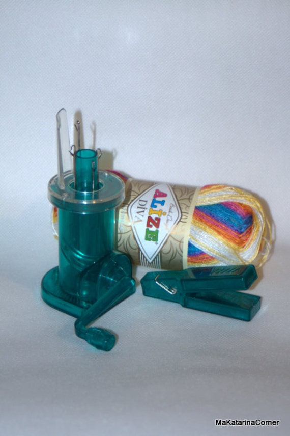 Knitting Nancy Machine : Hand knitting mill machine and ball of yarn i by