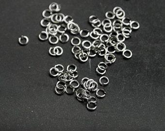 B0001/Anti-Tarnished Rhodium Plating Over Brass/2mm Jumpring/2mm inner diameter,0.6mm thickness/8g(Approx 300pcs)