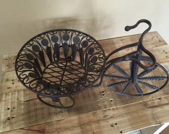 Iron Bicycle Plant Stand / Vintage Plant Stand / Plant Stand Vintage