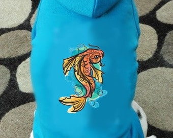 Koi Fish Dog Hoodie Sweatshirt