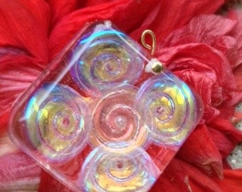 Resin Flower Pendant