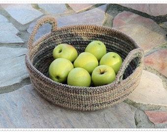 Crochet Pattern - Basket 'Rustico'