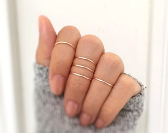 Gift - Rose gold knuckle ring set of 5,midi rings,delicate rings,ring set,rose gold rings,rose gold midi rings,minimalist ring,hammered midi