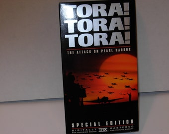 Tora Tora Tora Attack on Pearl Harbor VHS Tape Special Edition Free Shipping