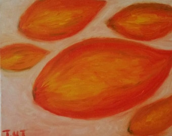 "Abstract Original Oil Painting "" Mangoes"""