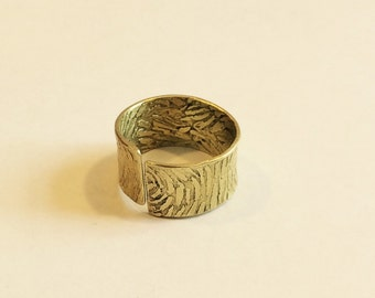 double-etched van gogh ring