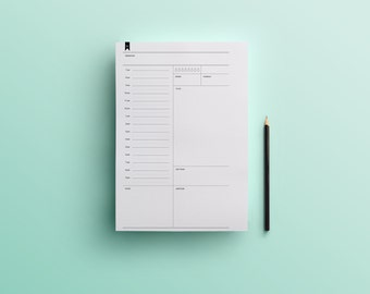 Undated Daily Planner (Digital Download/Letter)