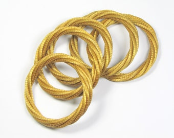 Golden grass Brazilian bracelets (set of 2)