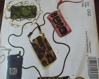 Sewing pattern McCall's 5946 Cell phone, MP3 player and personal planner cases new uncut