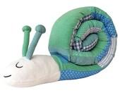 Rollout Patchwork-Schnecke (Ozean Farben) Cuddly Toy & Cot Stoßstange