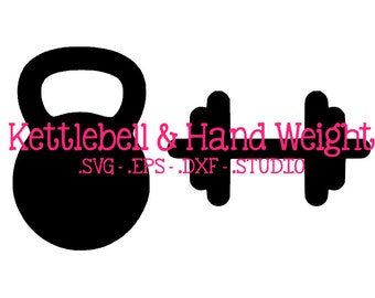 Kettlebell SVG - Kettlebell DXF - Kettlebell EPS - Kettlebell Silhouette Studio Cut File - Hand Weight svg - Hand Weight Cut File - Gym svg