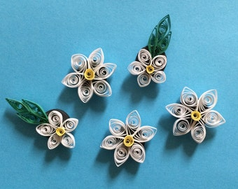 Quilled Flower Magnets (set of 5)