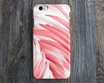BENEATH MY WINGS iPhone 6 Case. Feather iPhone 6 Case. Modern Art iPhone Case. Nature iPhone6 Case. Red iPhone Case. Bird iPhone Case. iP6.